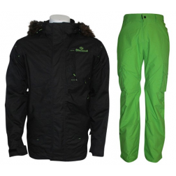 Brunotti set antraciet/groen heren
