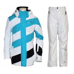 Brunotti - O'Neill set wit/turquoise kinderen